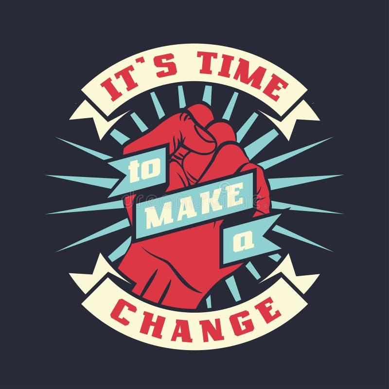 Es ist Zeit, eine Änderung vorzunehmen vektor abbildung