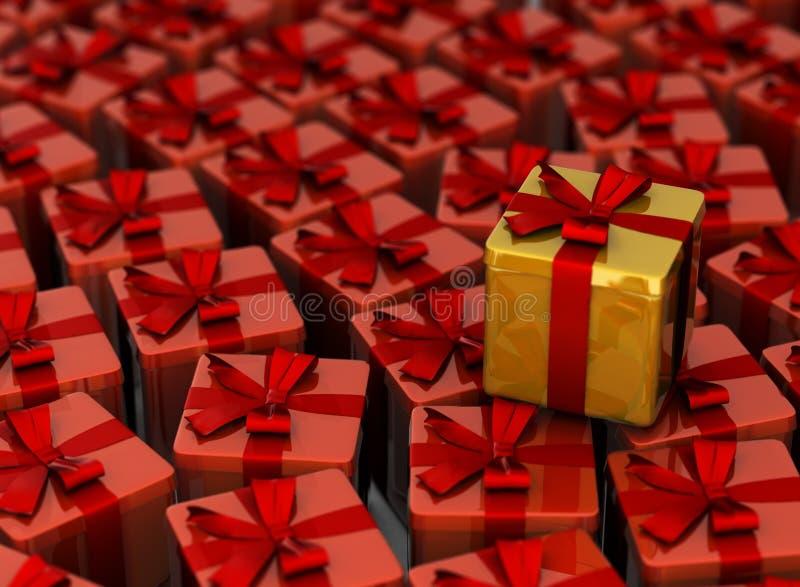 Es muchos regalos imagen de archivo libre de regalías