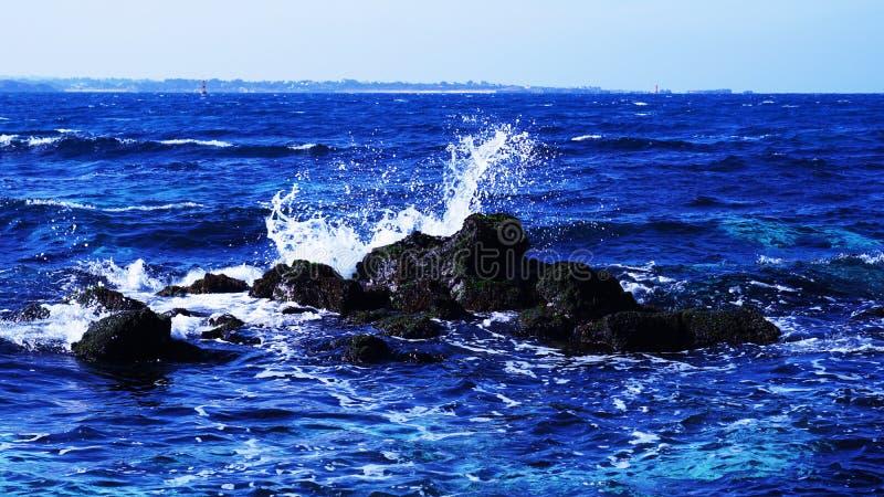Es paisaje azul hermoso del mar de Udo de la isla de Jeju imagen de archivo libre de regalías