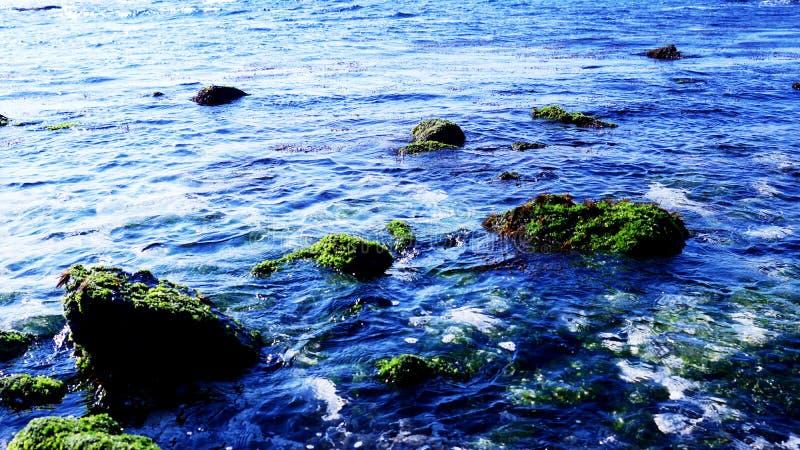 Es paisaje azul hermoso del mar de Udo de la isla de Jeju fotografía de archivo libre de regalías