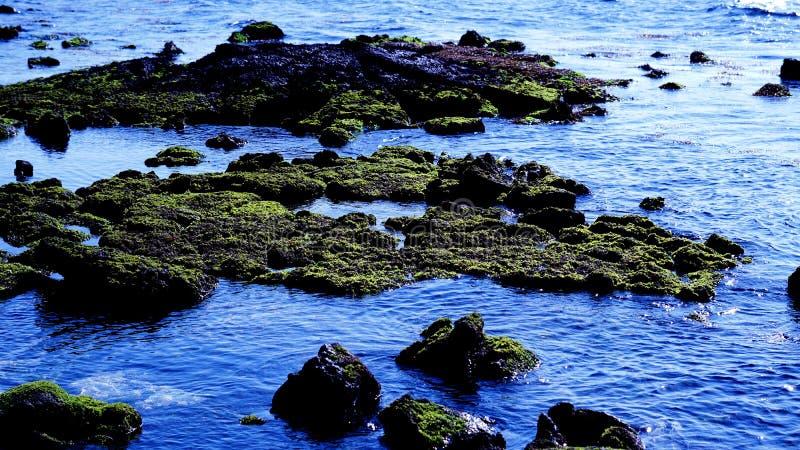 Es paisaje azul hermoso del mar de Udo de la isla de Jeju imágenes de archivo libres de regalías