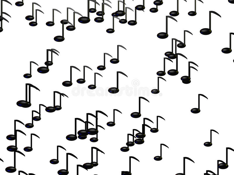 Es regnet Musik lizenzfreie abbildung