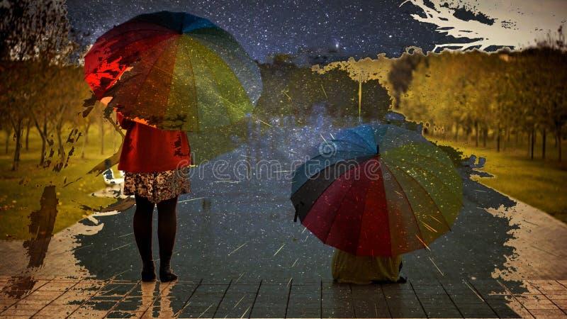 es ` s Regnen lizenzfreies stockfoto