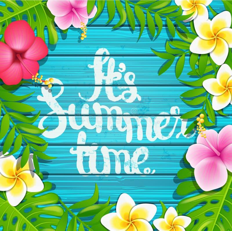 Es tiempo de verano, vector ilustración del vector
