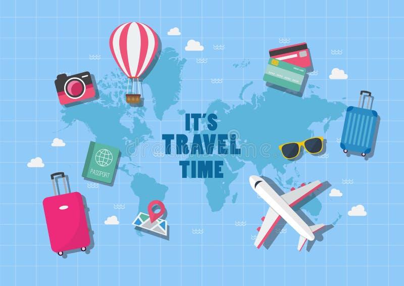 Es tiempo de viaje libre illustration