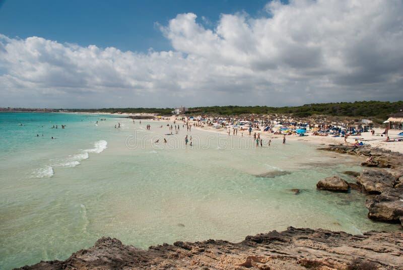 ES Trenc海滩 库存图片