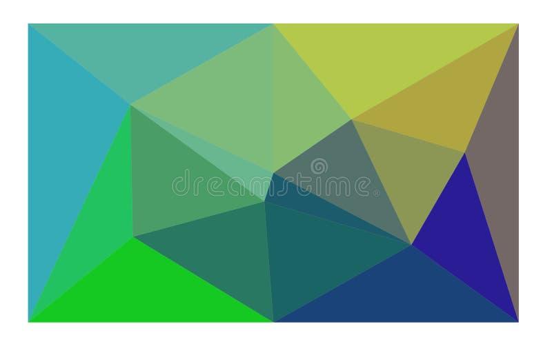 Es un fondo brillantemente coloreado con los triángulos ilustración del vector