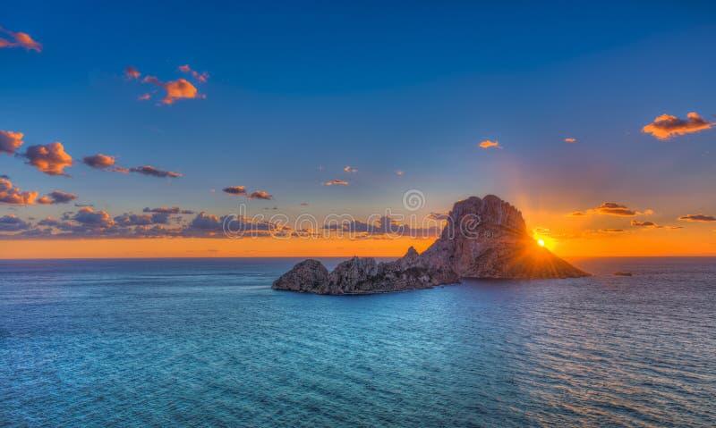 Es Vedrá - Ibiza - the rock stock image