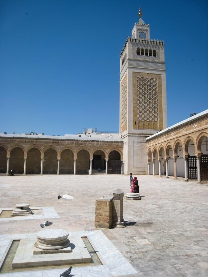 ES Zitouna清真寺。突尼斯。突尼斯 免版税图库摄影