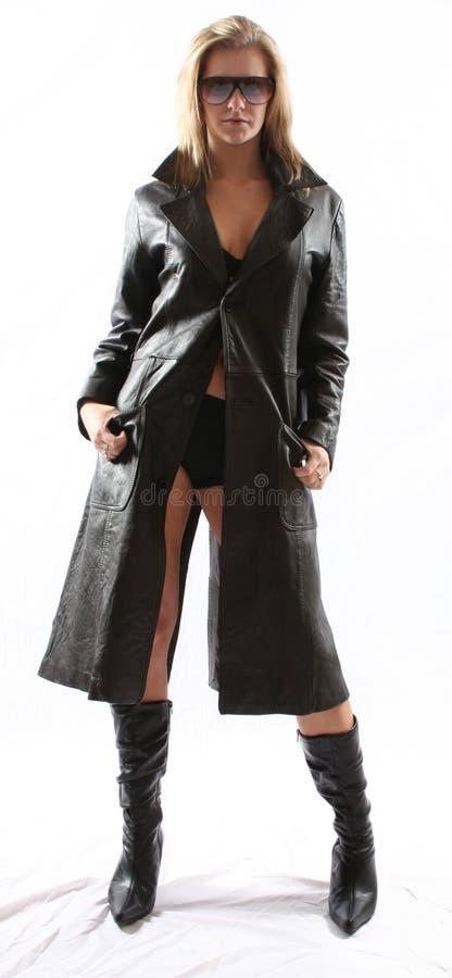 Esa chaqueta de cuero negra imagen de archivo