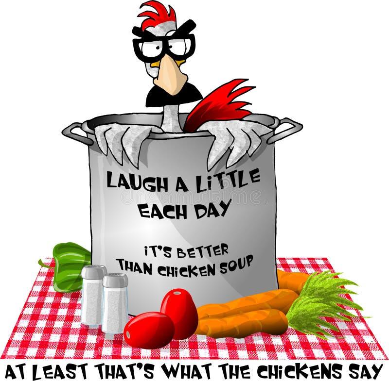 Esa sopa de pollo prueba divertida? stock de ilustración