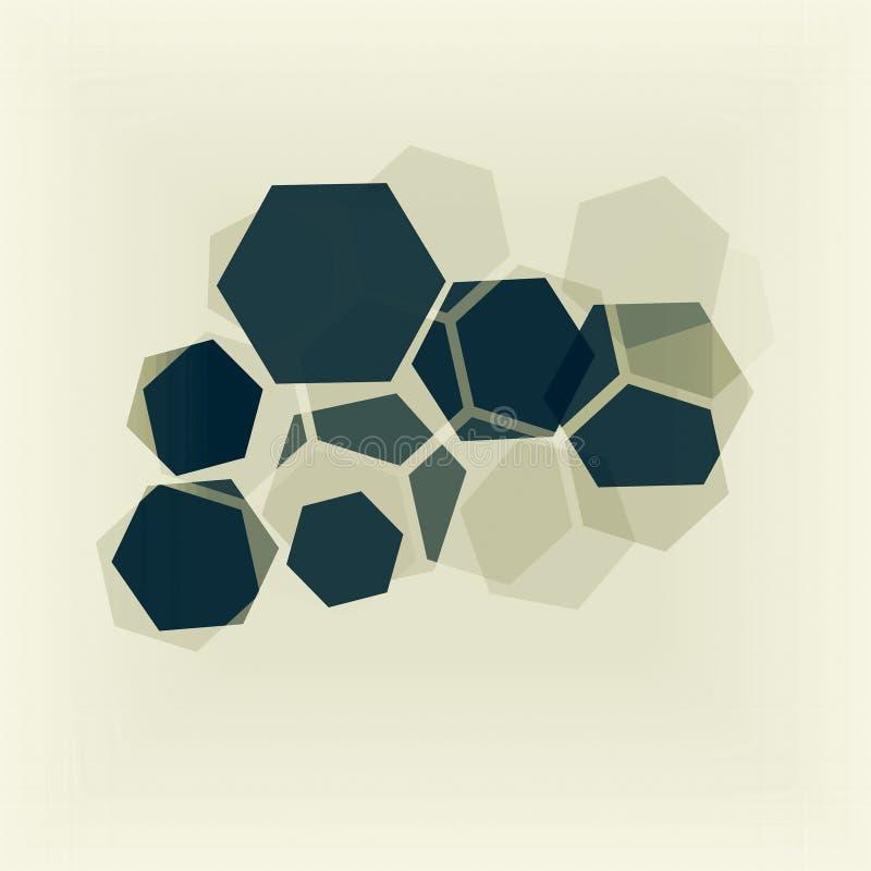 Esagoni di sovrapposizione Reticolo geometrico astratto immagini stock