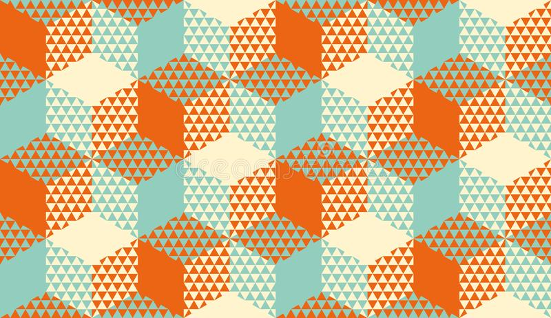 Esagoni e modello senza cuciture geometrico dei triangoli royalty illustrazione gratis