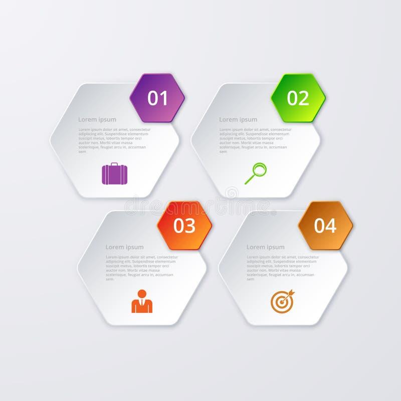 Download Esagono Di Infographics Quattro Dell'illustrazione Di Vettore Illustrazione Vettoriale - Illustrazione di quattro, opzione: 56889741