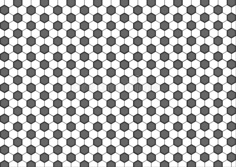 Esagono senza cuciture moderno del modello della geometria, fondo geometrico dell'estratto in bianco e nero del favo illustrazione di stock