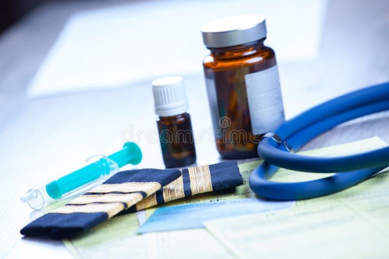 Esame dell'aeromedicina fotografia stock