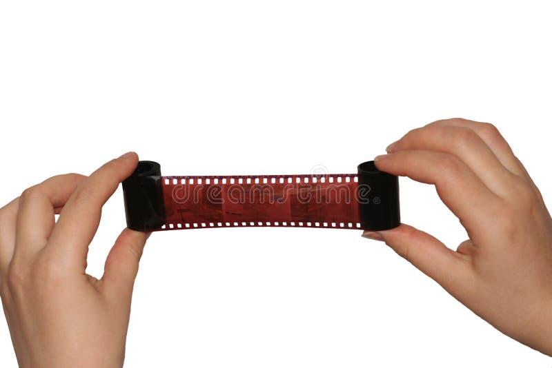 Esame della pellicola. immagini stock