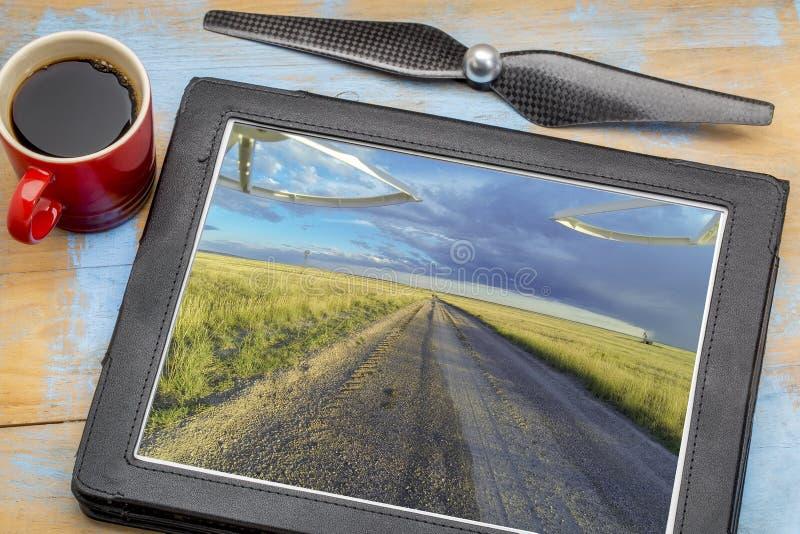 Esame delle immagini aeree di fotografia del paesaggio fotografie stock libere da diritti