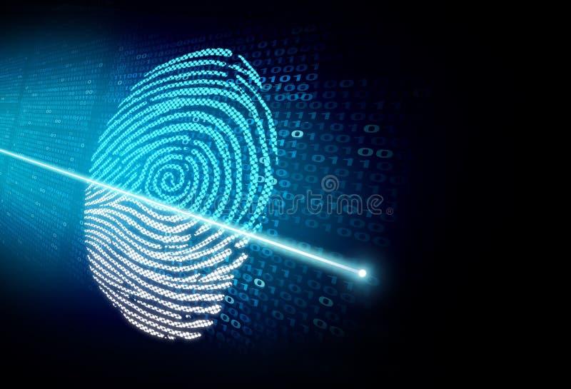 Esame di ricerca o di identità di sicurezza illustrazione vettoriale