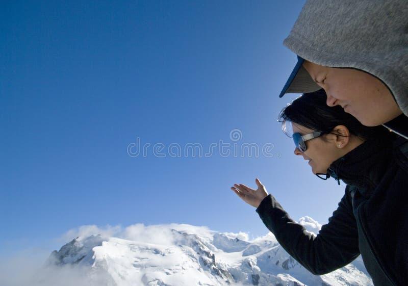 Esamini Mont Blanc Fotografia Stock Libera da Diritti
