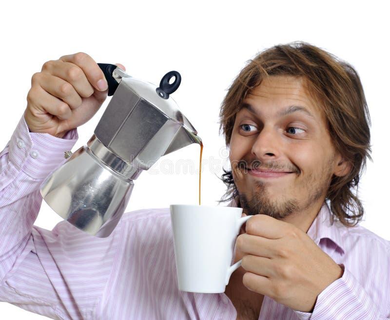 Esamini quella qualità della caffeina fotografia stock libera da diritti
