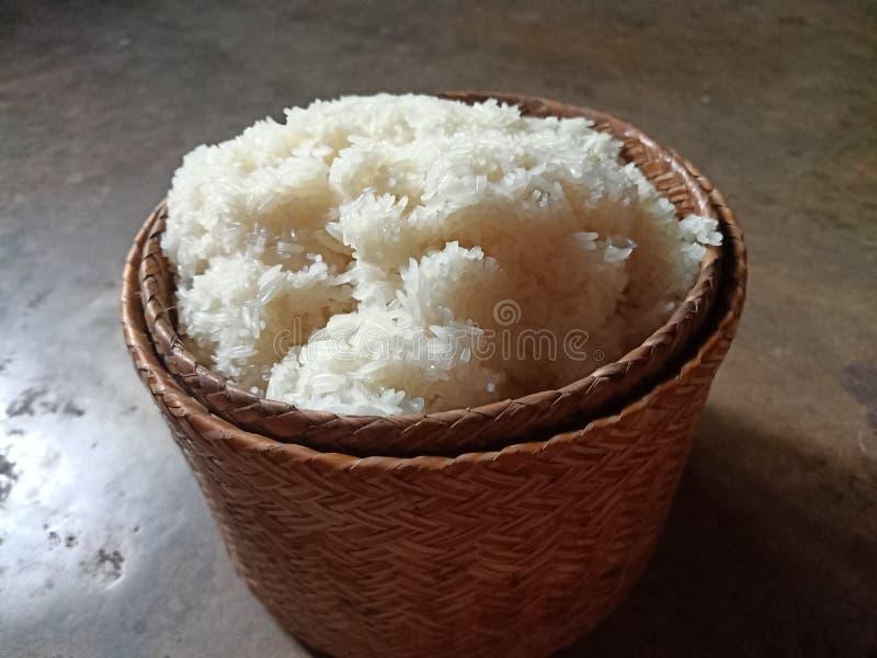 esarn thaïlandais de riz collant image stock