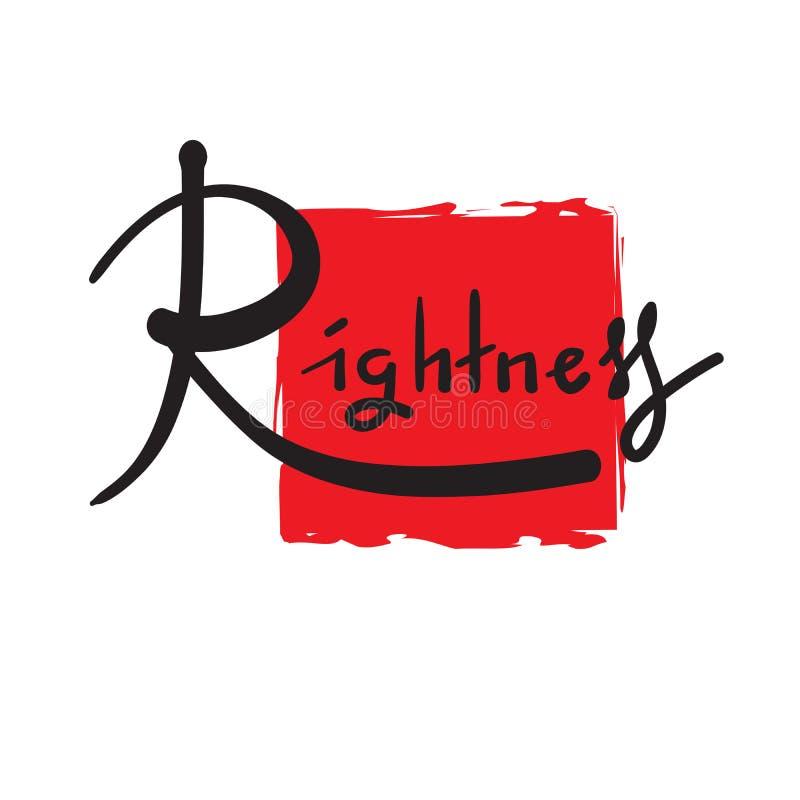 Esattezza - semplice ispiri e citazione motivazionale Bella iscrizione disegnata a mano Stampa per il manifesto ispiratore royalty illustrazione gratis