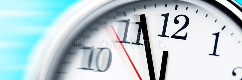 Esaurire tempo! immagine stock