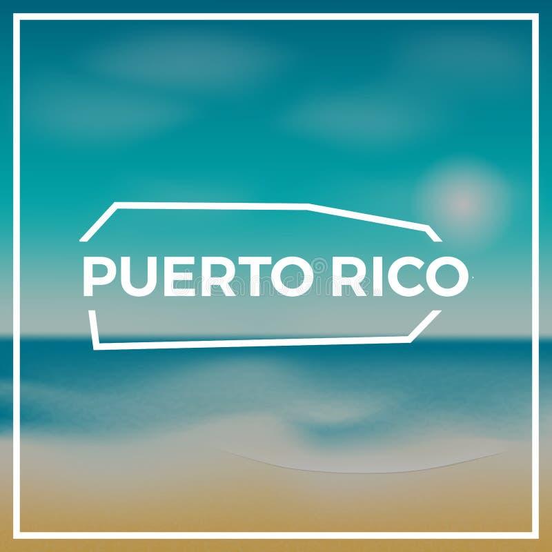 Esboço áspero do mapa de Porto Rico contra ilustração stock