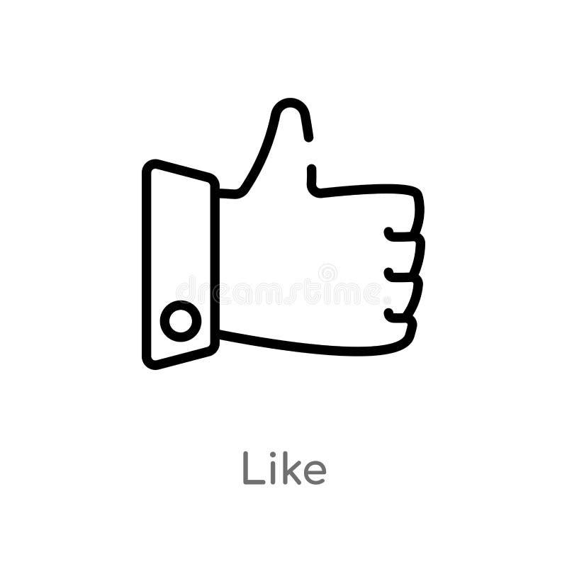 esbo?o como o ?cone do vetor linha simples preta isolada ilustra??o do elemento do conceito do blogger e do influencer Vetor edit ilustração stock