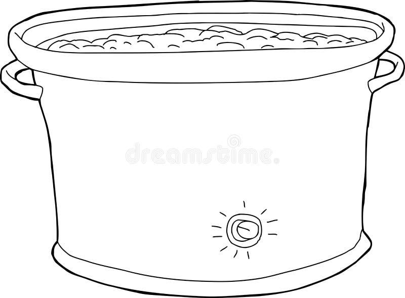 Esboço completo do potenciômetro da vasilha de barro ilustração stock