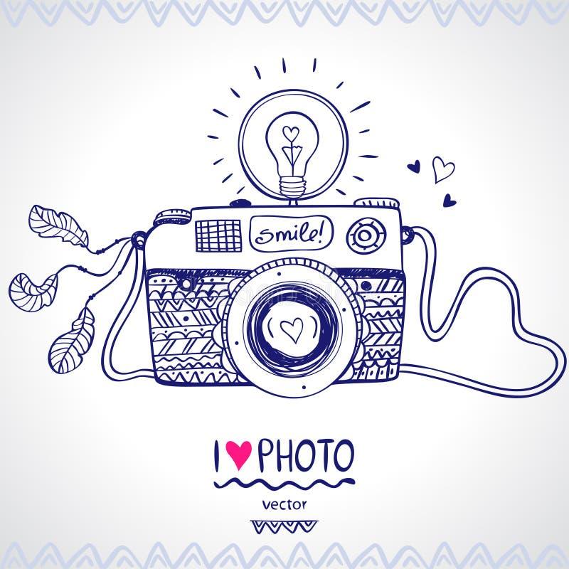 Esboço da câmera fotografia de stock royalty free