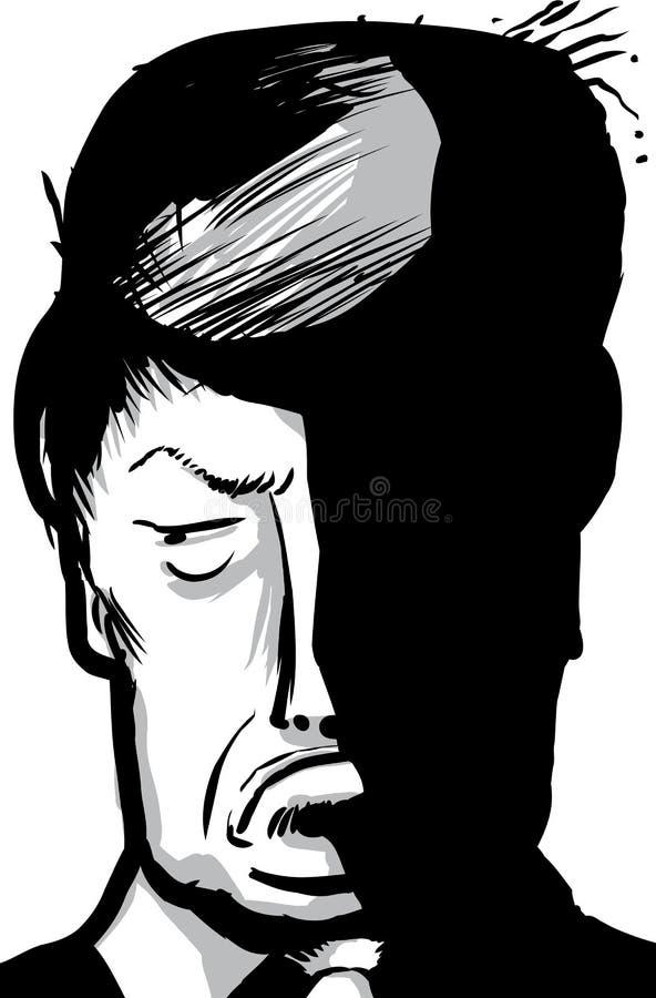 Esboço da caricatura de amuar de Donald Trump ilustração do vetor