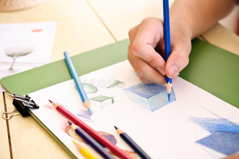 Esboço da cor do lápis imagens de stock royalty free