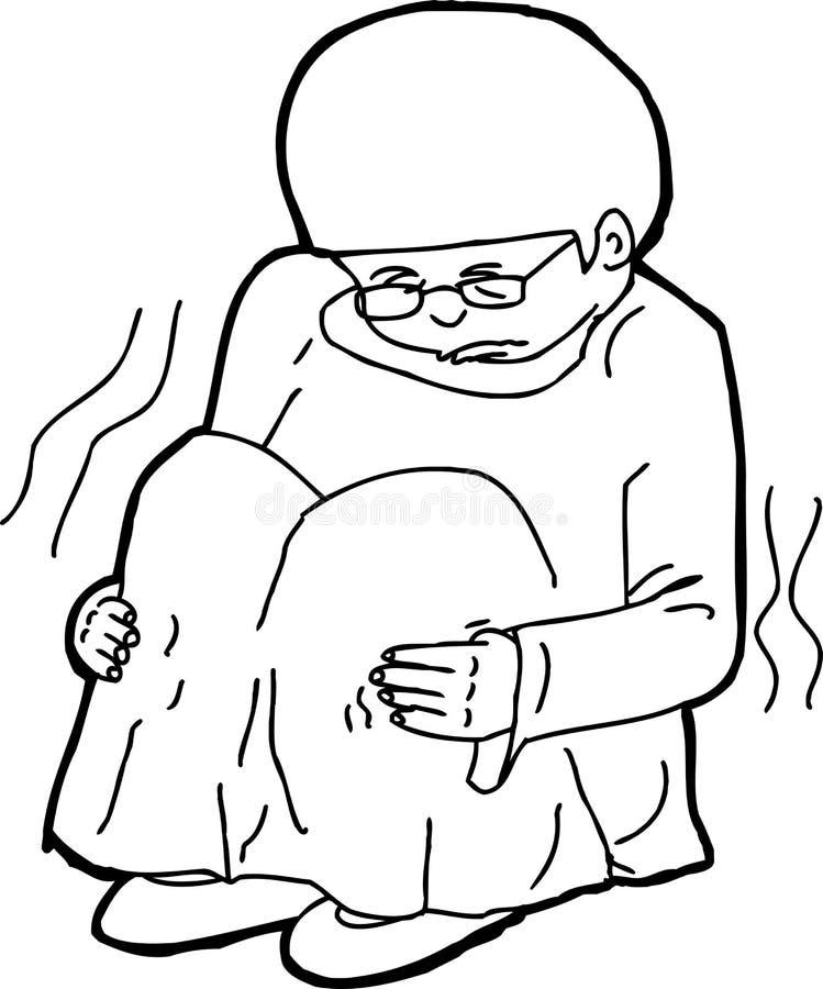 Esboço da criança tiritando ilustração stock