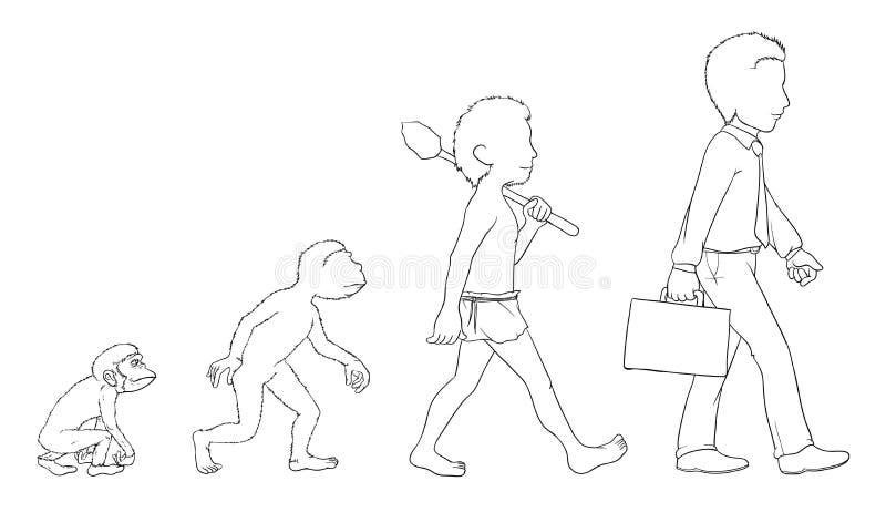 Esboço da evolução ilustração do vetor