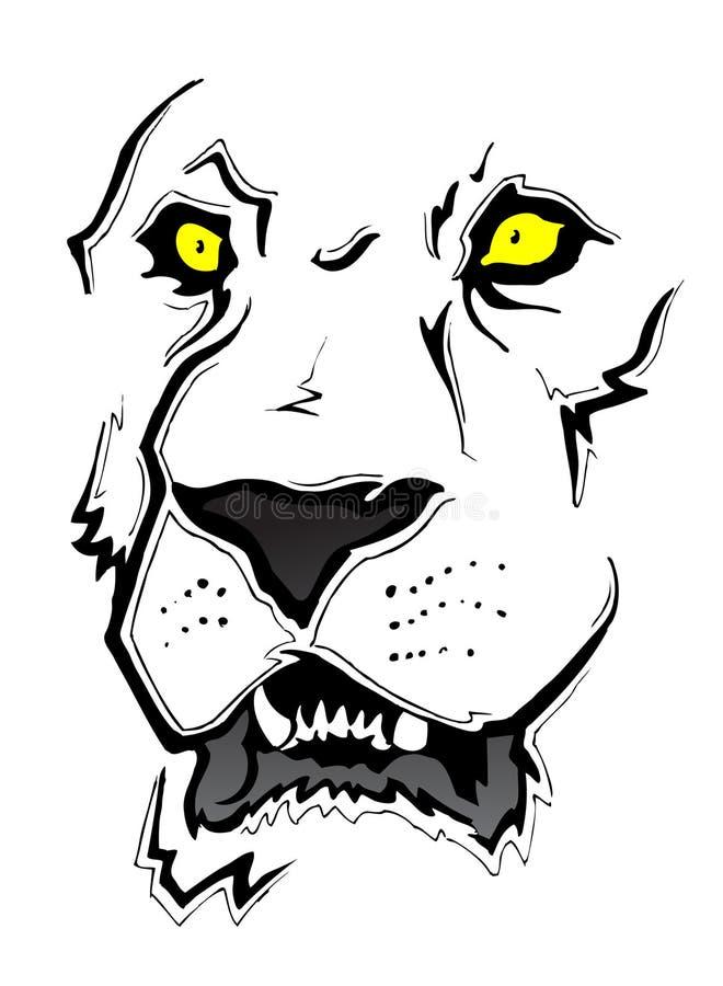 Esboço da face do leão ilustração royalty free