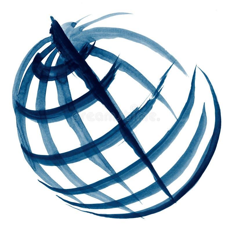 Esboço da ilustração do globo fotografia de stock