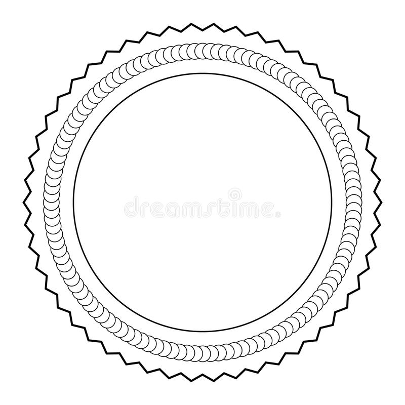 esboço da medalha ilustração stock