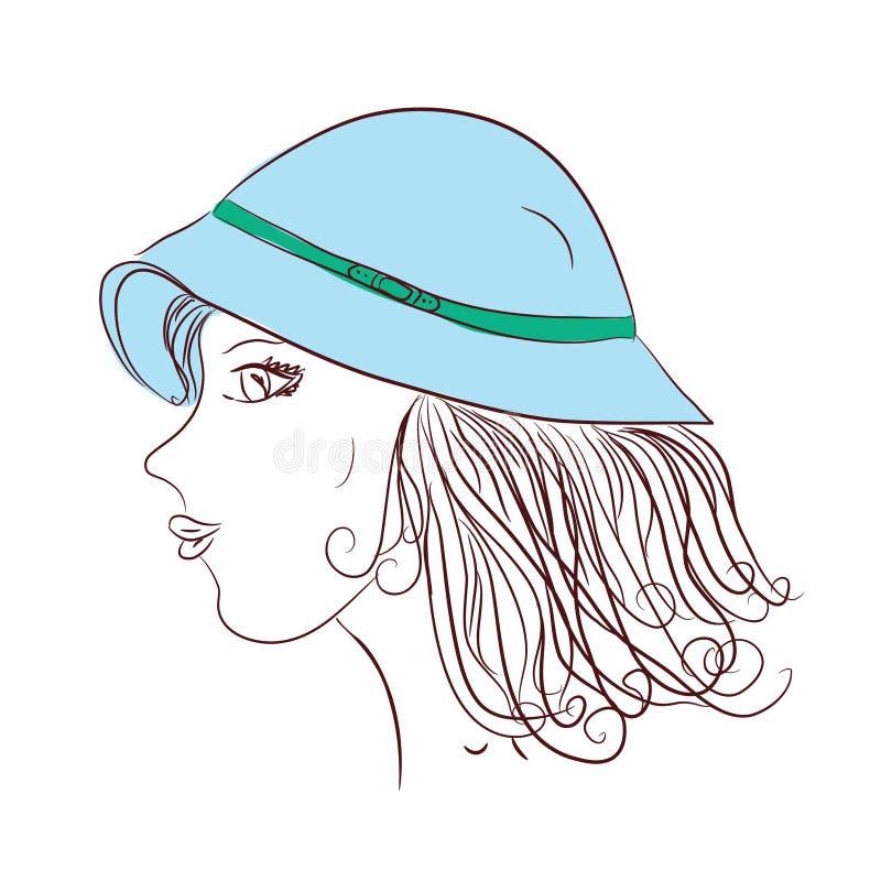 Esboço da menina ilustração do vetor