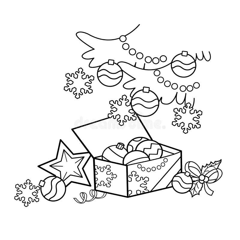 Esboco Da Pagina Da Coloracao Da Decoracao Do Natal Dos Desenhos
