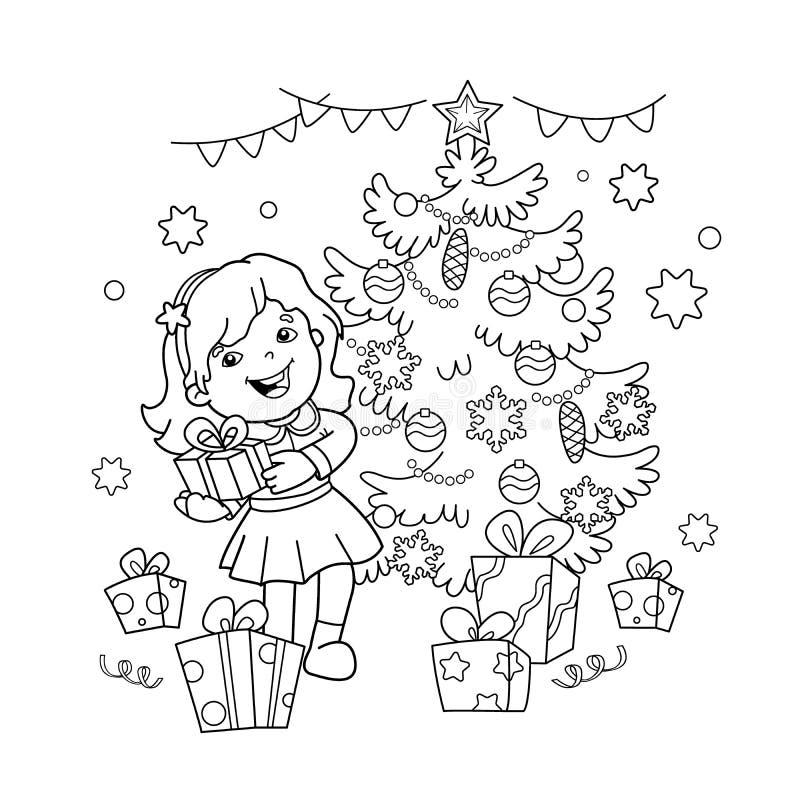 Esboco Da Pagina Da Coloracao Da Menina Dos Desenhos Animados Com
