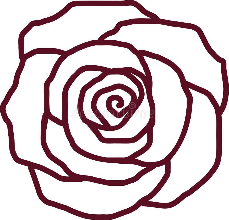Esboço da pétala de Rosa ilustração do vetor
