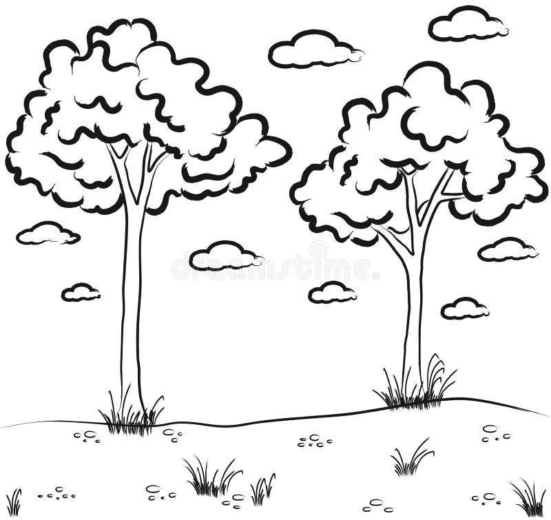 Esboço da paisagem ilustração do vetor