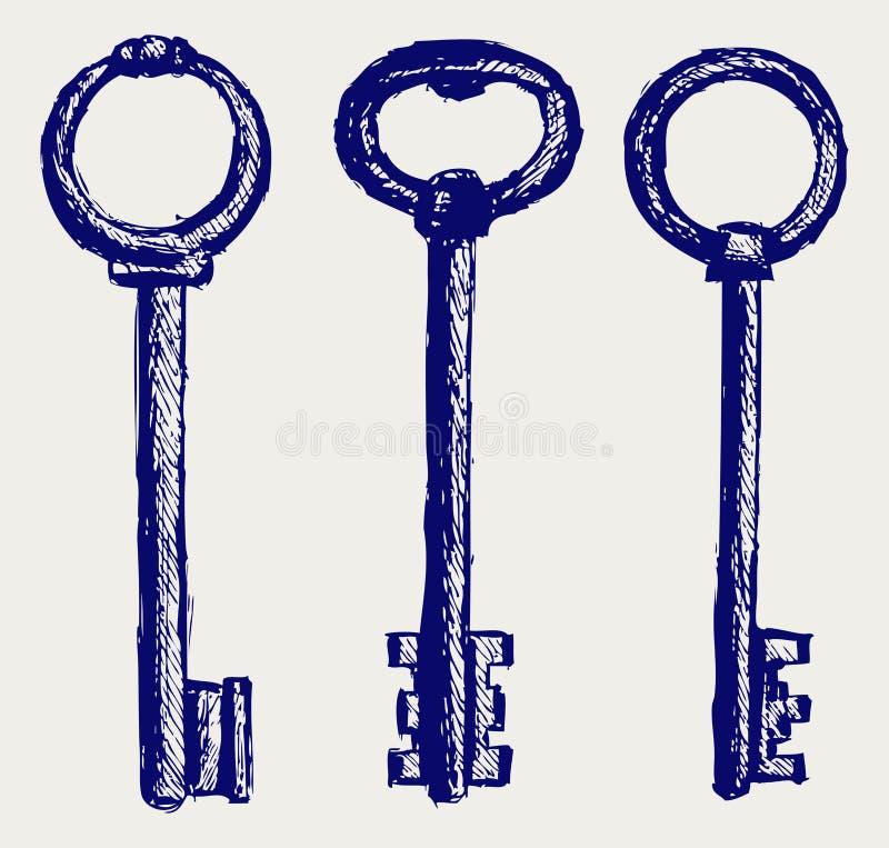 Esboço das chaves ilustração do vetor