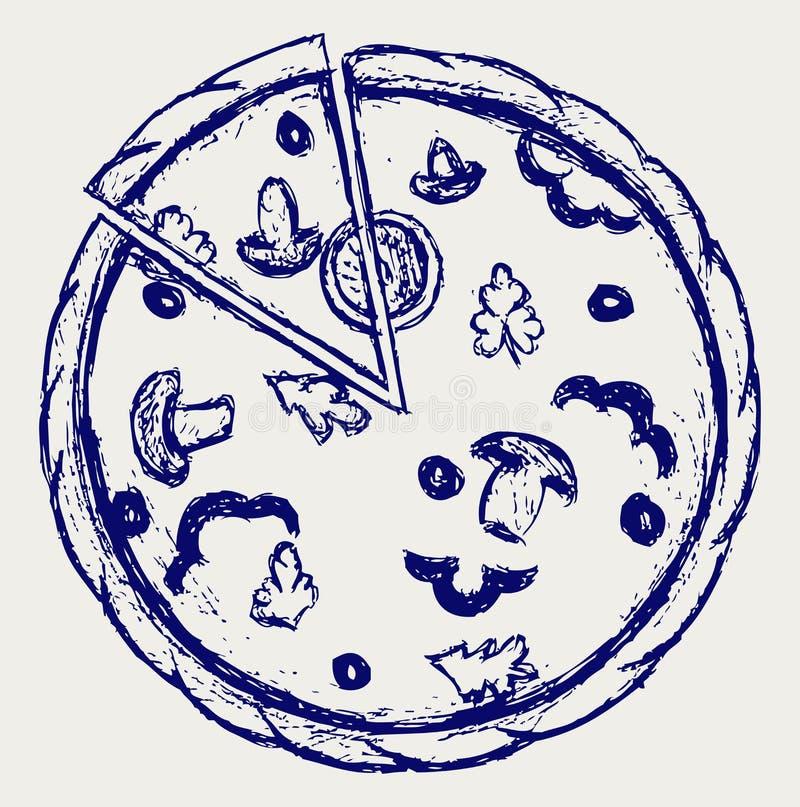 Download Esboço das pizzas ilustração do vetor. Ilustração de ícone - 26513722