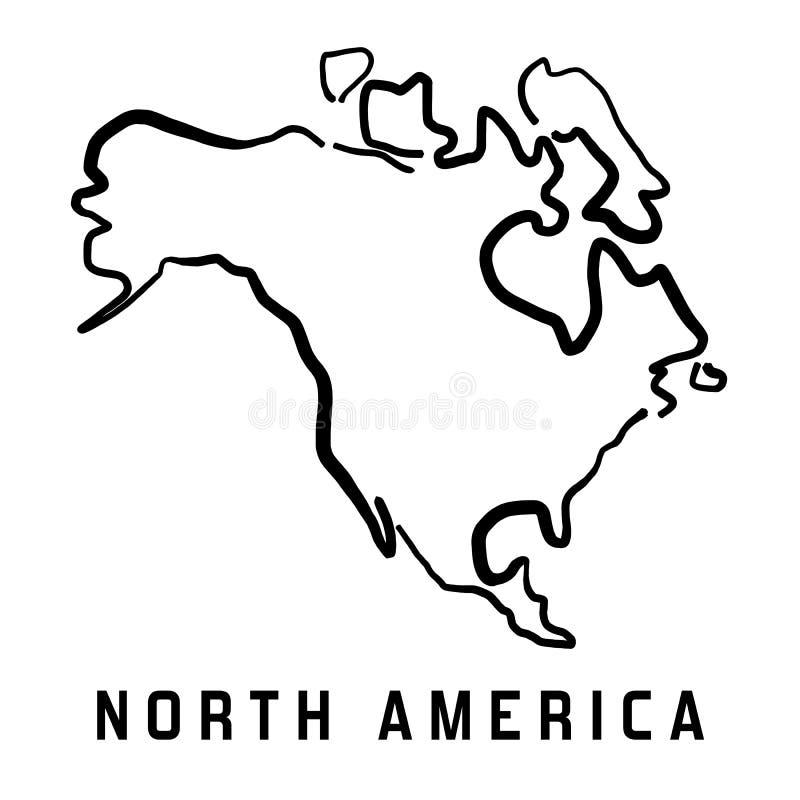 Esboço de America do Norte ilustração stock