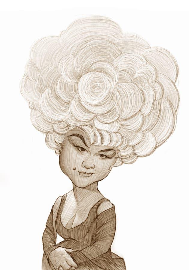 Esboço de Etta James Caricature ilustração royalty free