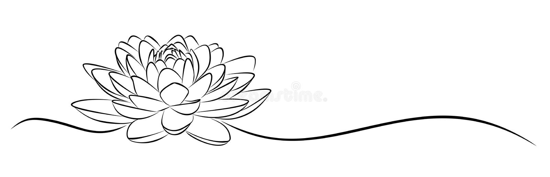 Esboço de Lotus ilustração royalty free