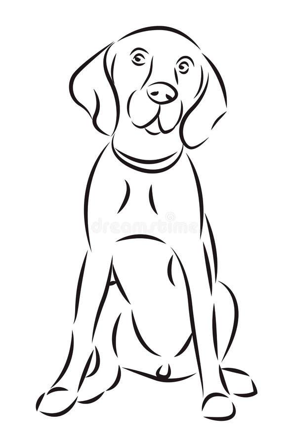 Esboço de um cão ilustração do vetor